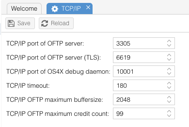 OS4X Core configuration - OS4X